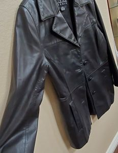 Sienna Studio Buttoned down  Leather Jacket